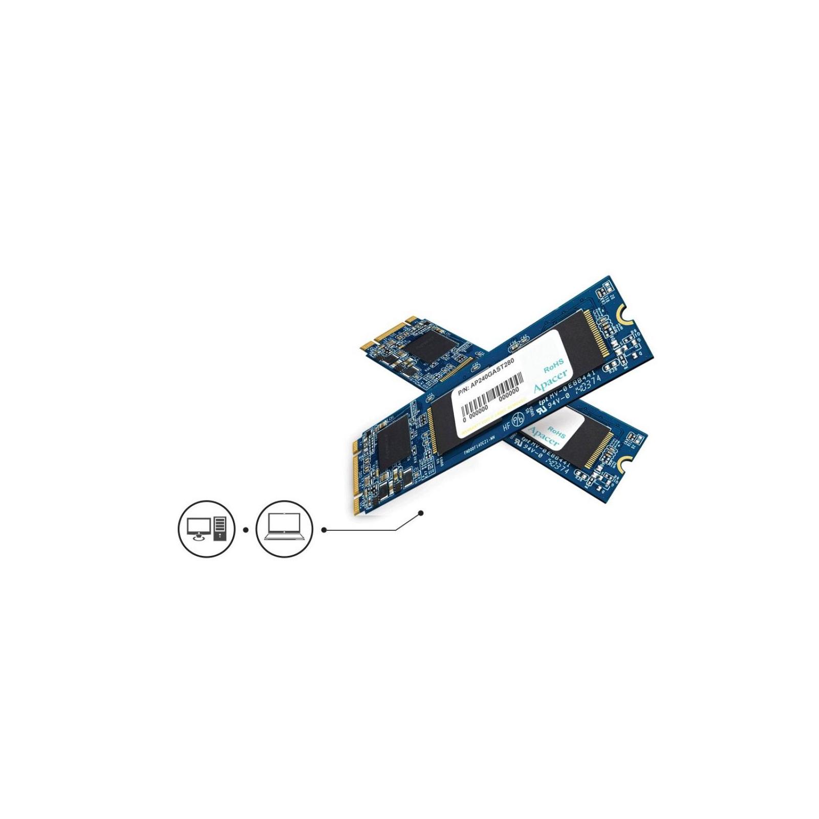 Накопитель SSD M.2 2280 240GB Apacer (AP240GAST280) изображение 2