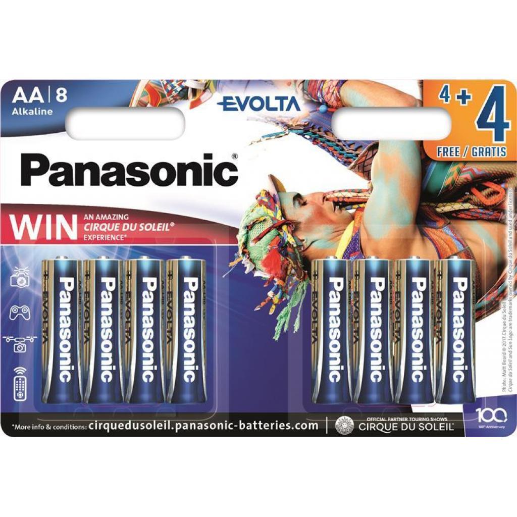 Батарейка PANASONIC AA LR6 Evolta Cirque du Soleil * 8 (LR6EGE/8B4FCDS)