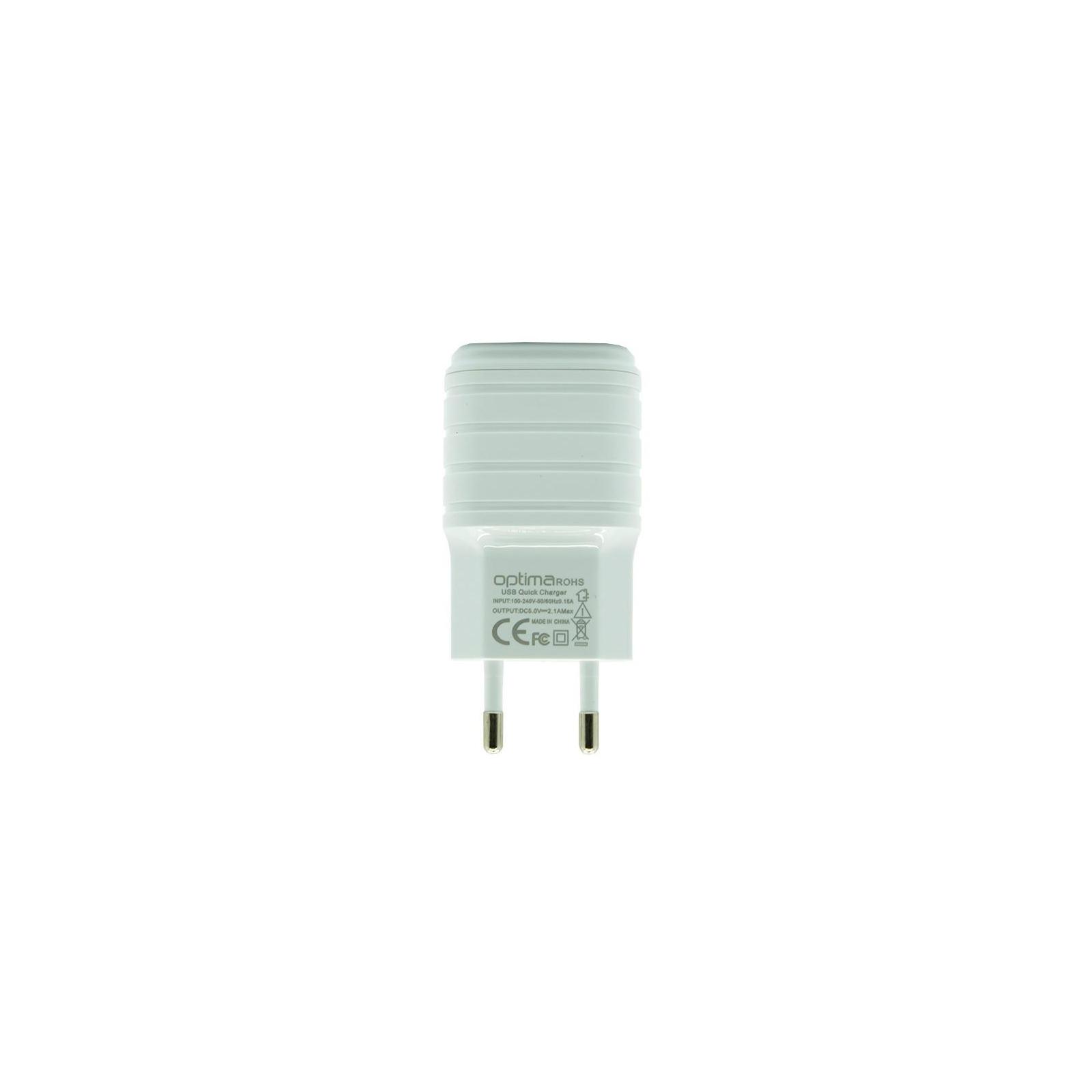 Зарядное устройство Optima 2xUSB Force (2.1A) White (40811)