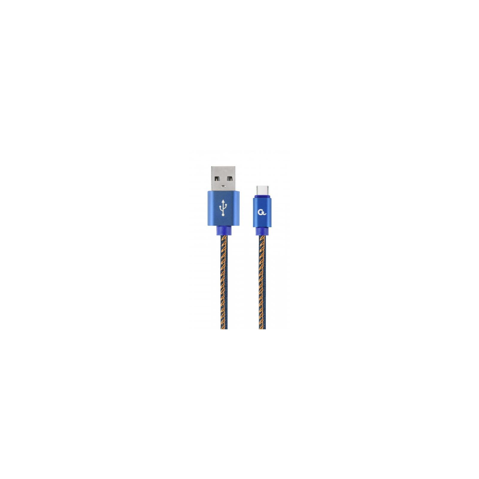 Дата кабель USB 2.0 AM to Type-C 1.0m Cablexpert (CC-USB2J-AMCM-1M-BL)