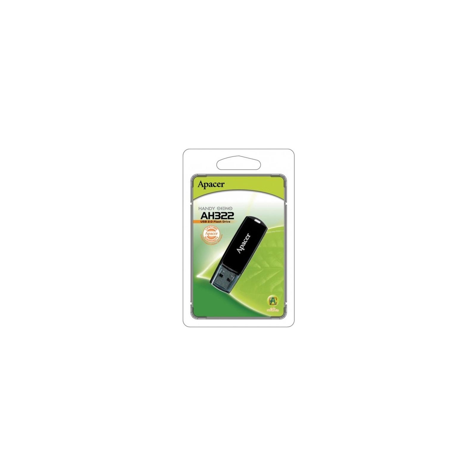 USB флеш накопитель Handy Steno AH322 black Apacer (AP8GAH322B-1) изображение 4