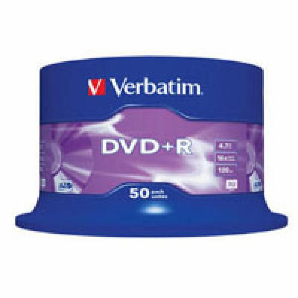 Диск DVD Verbatim 4.7Gb 16X CakeBox 50 шт (43550)