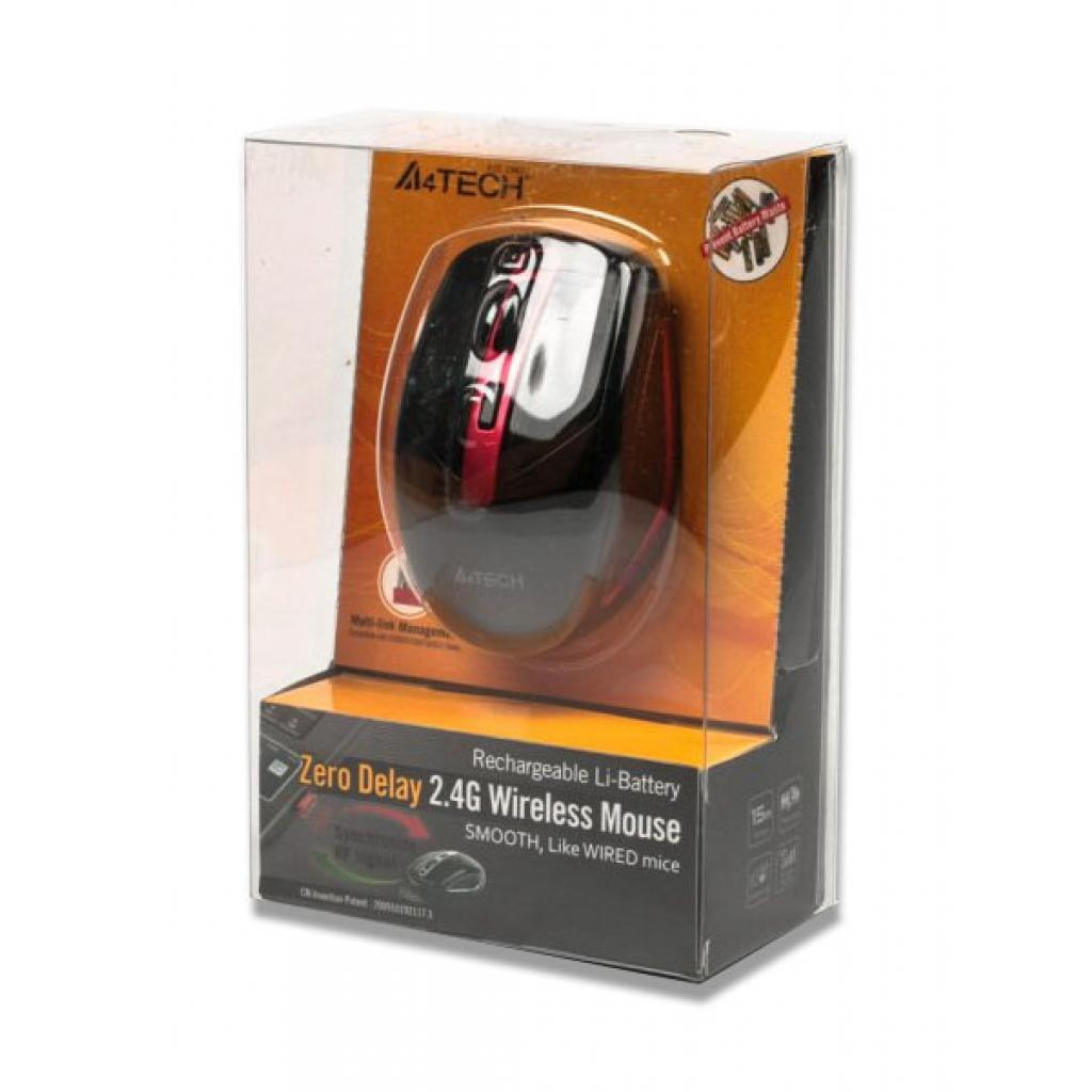 Мышка A4-tech G11-590 FX Black+Red изображение 3