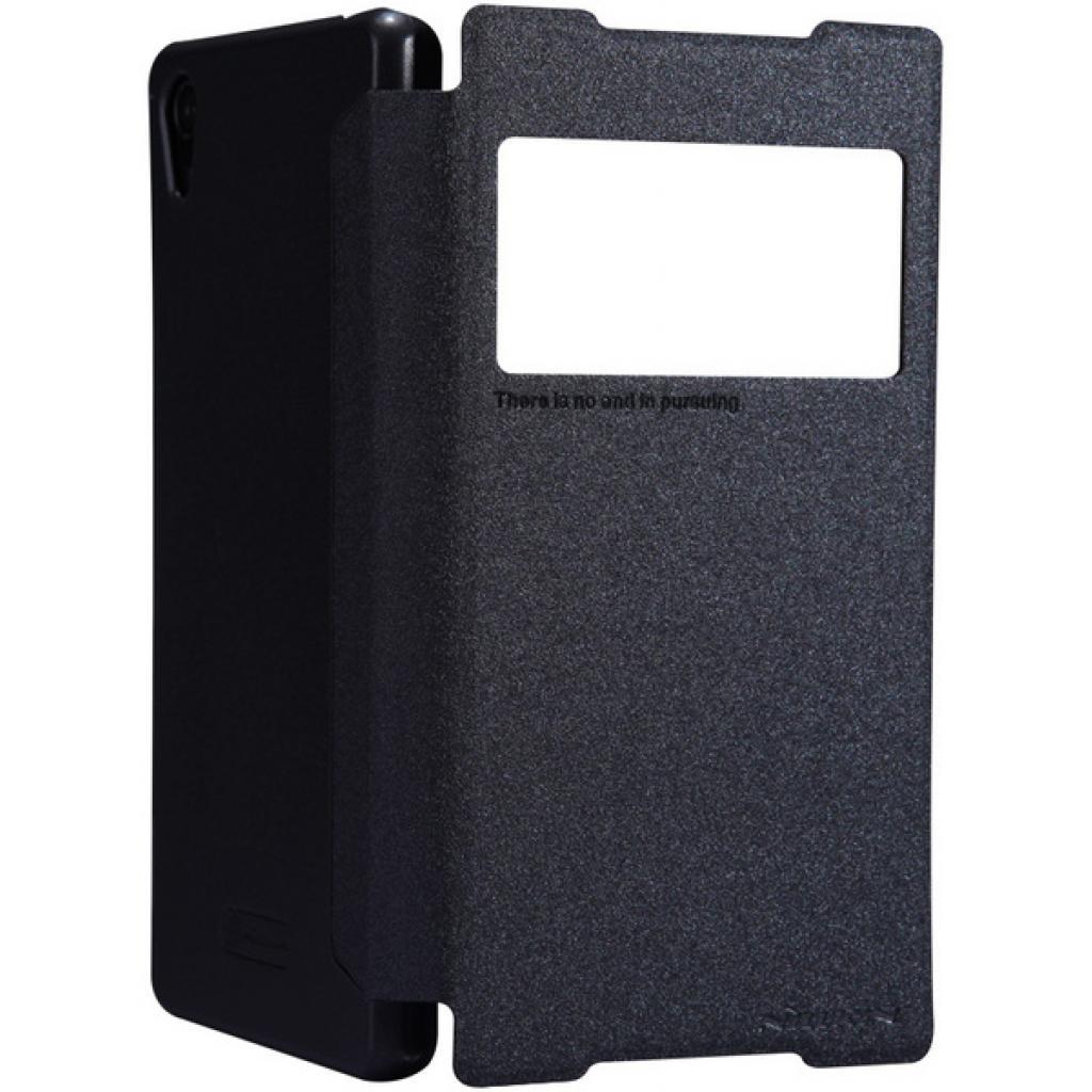Чехол для моб. телефона NILLKIN для Sony Xperia Z2 /Spark/ Leather/Black (6147181) изображение 4