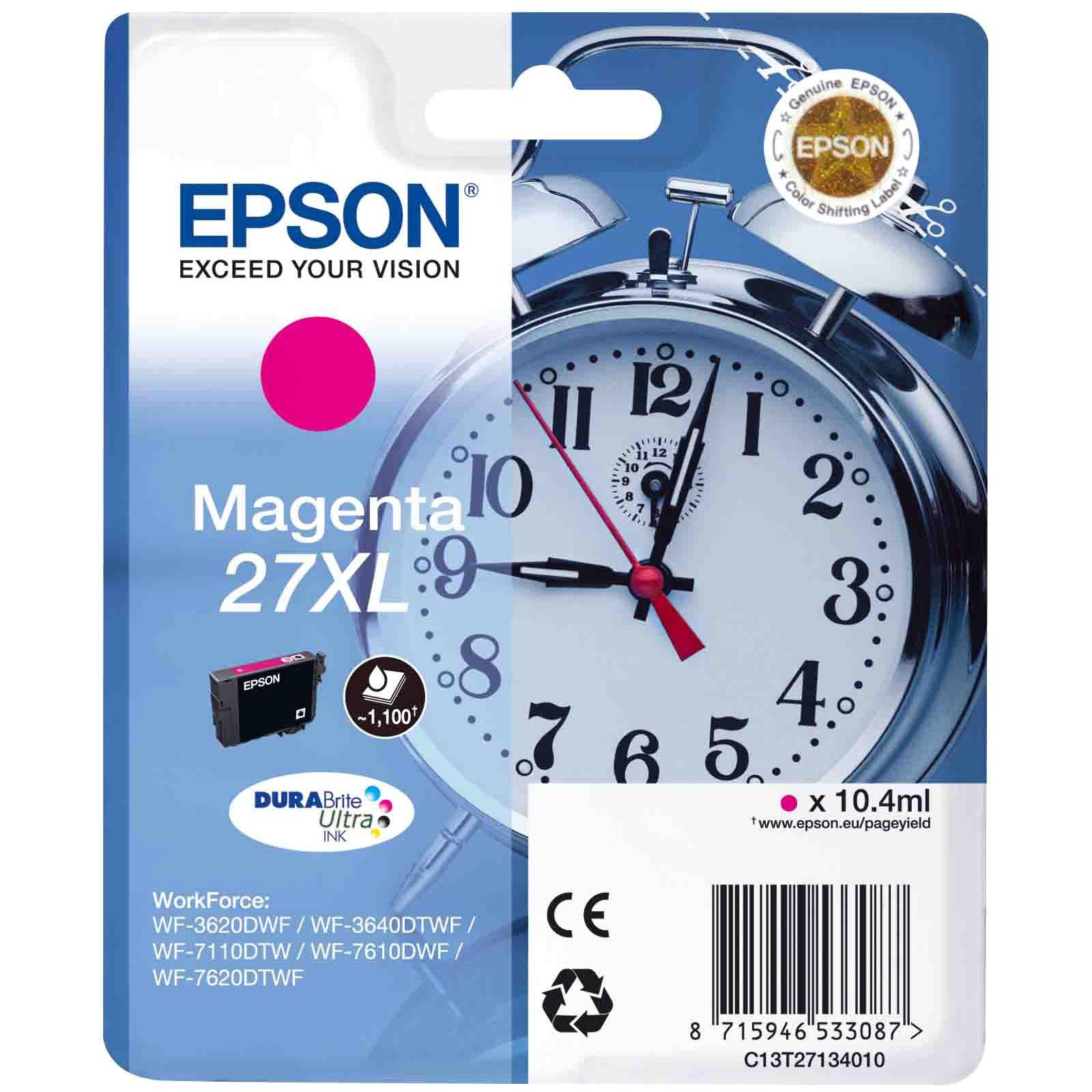 Картридж EPSON 27XL WF-7620 magenta XL (C13T27134020/C13T27134022)