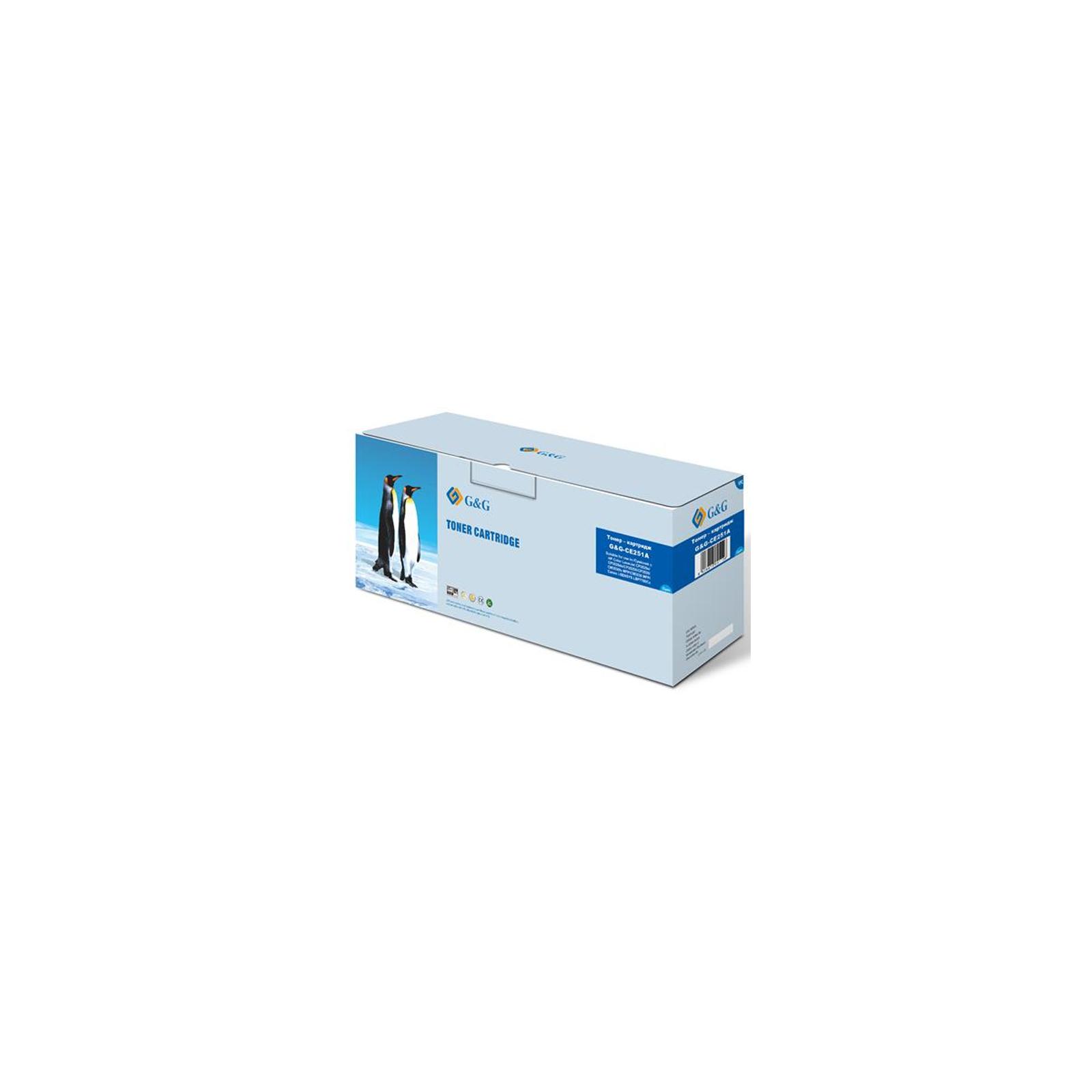 Картридж G&G для HP Color LaserJet CP3525n/CP3520/ CM3530fs/Canon 732 Cya (G&G-CE251A)