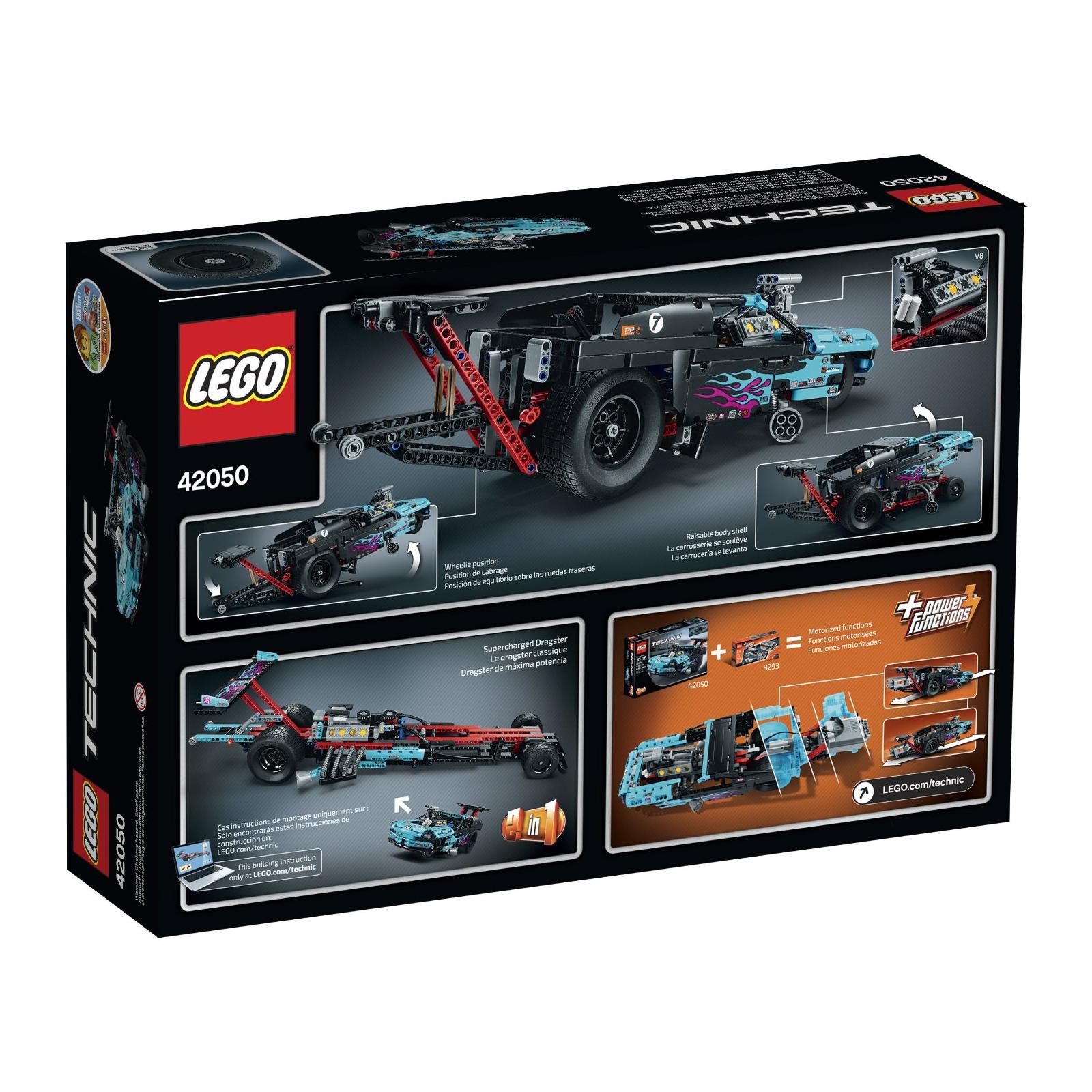 Конструктор LEGO Technic Драгстер (42050) изображение 8