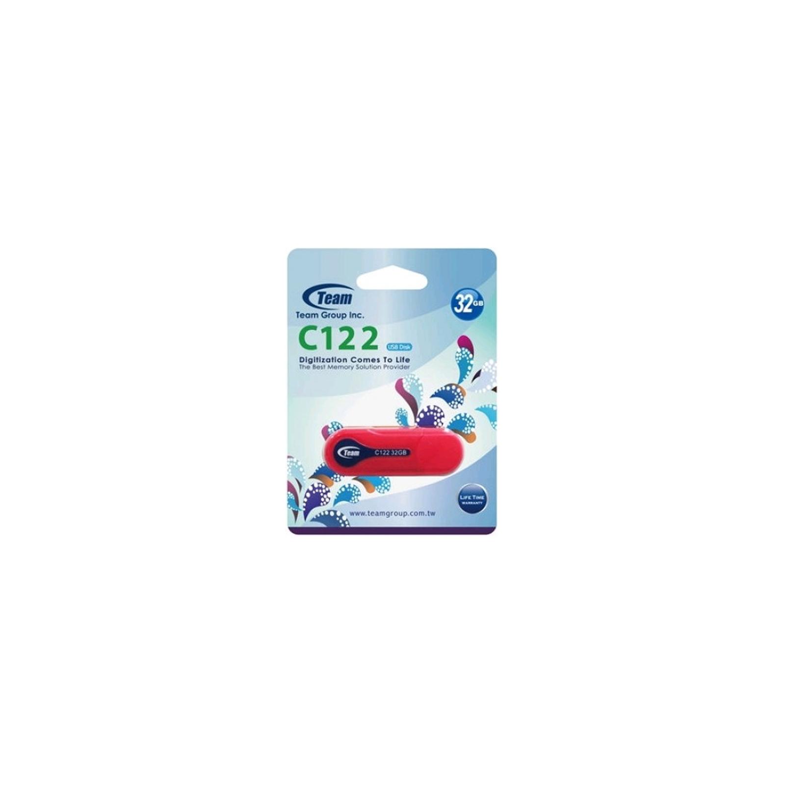 USB флеш накопитель Team 32GB C122 Red USB 2.0 (TC12232GR01) изображение 3