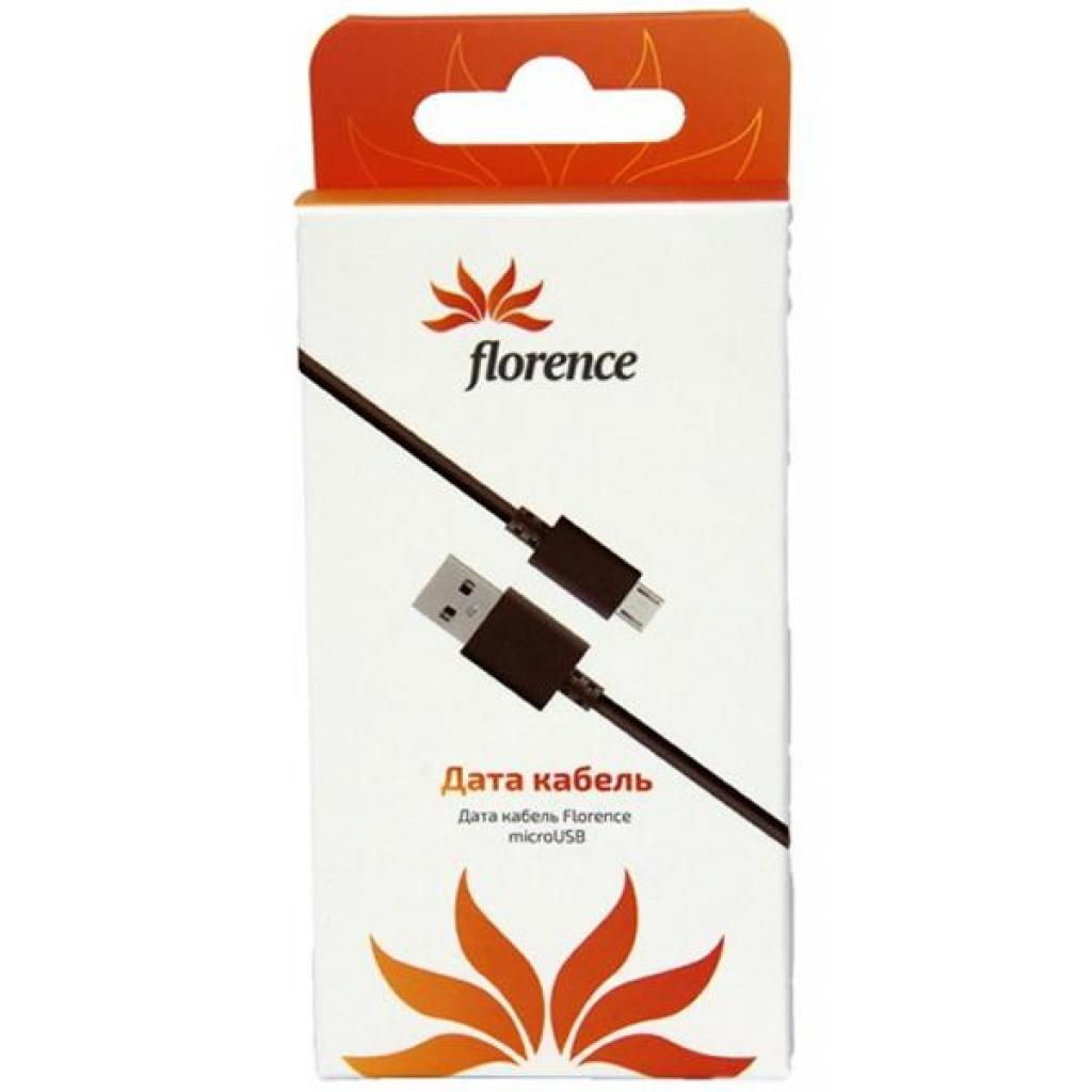 Дата кабель USB 2.0 AM to Micro 5P 0.3m Black Florence (DC20-03MUBK)