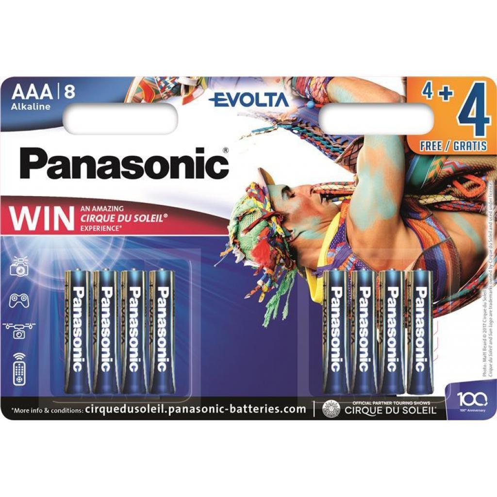 Батарейка PANASONIC AAA LR03 Evolta Cirque du Soleil * 8 (LR03EGE/8B4FCDS)