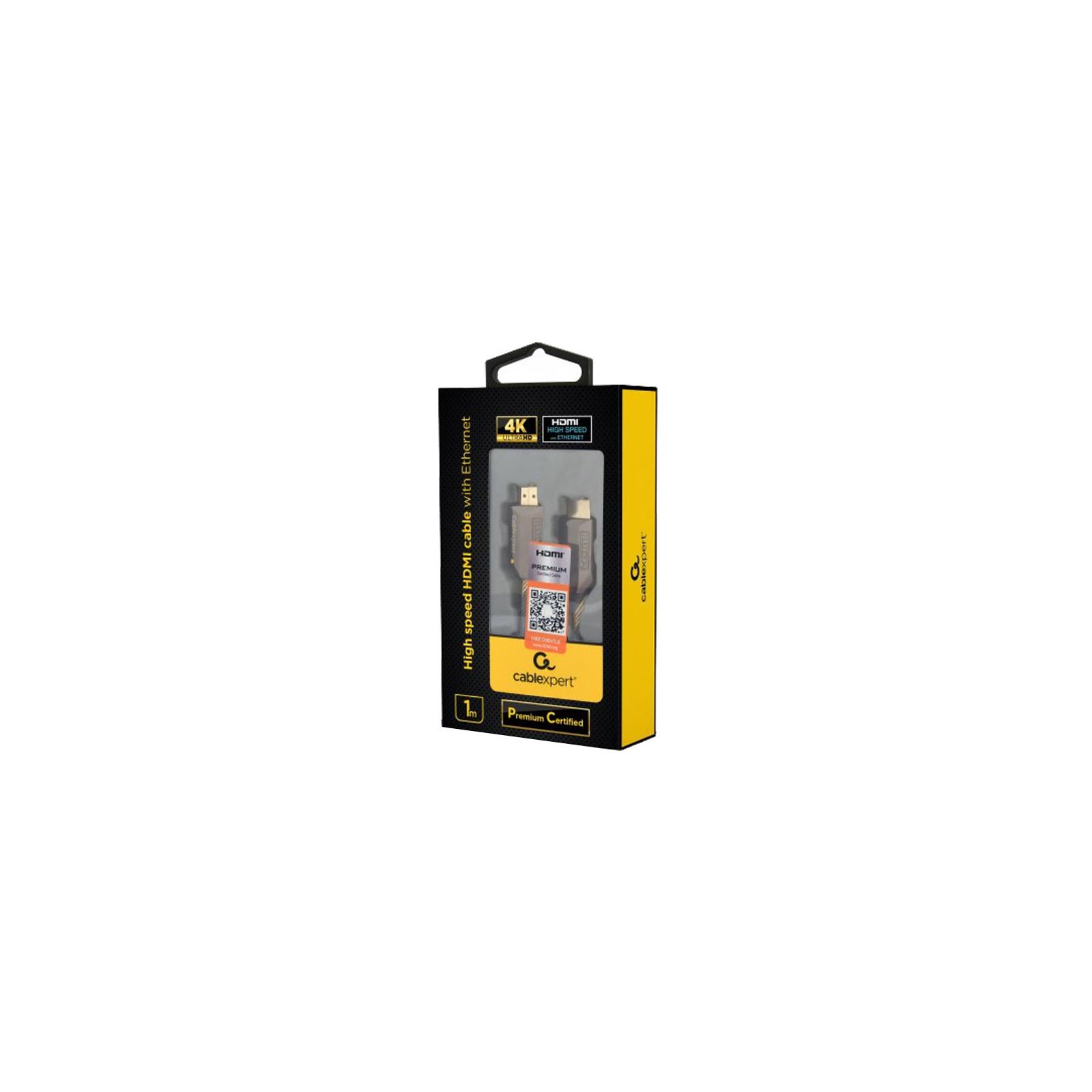 Кабель мультимедийный HDMI to HDMI 1.0m V2.0b Cablexpert (CCBP-HDMIPCC-1M) изображение 3