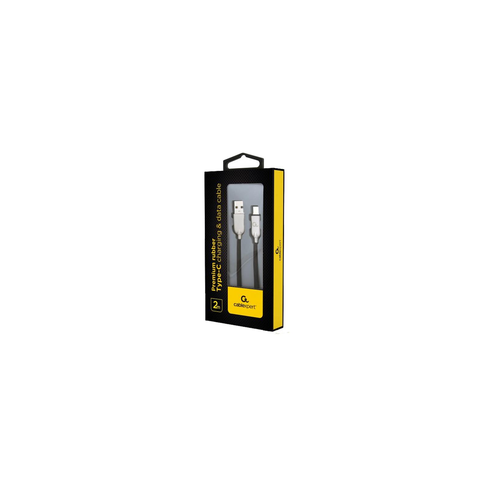 Дата кабель USB 2.0 AM to Type-C 2.0m Cablexpert (CC-USB2R-AMCM-2M-W) изображение 2
