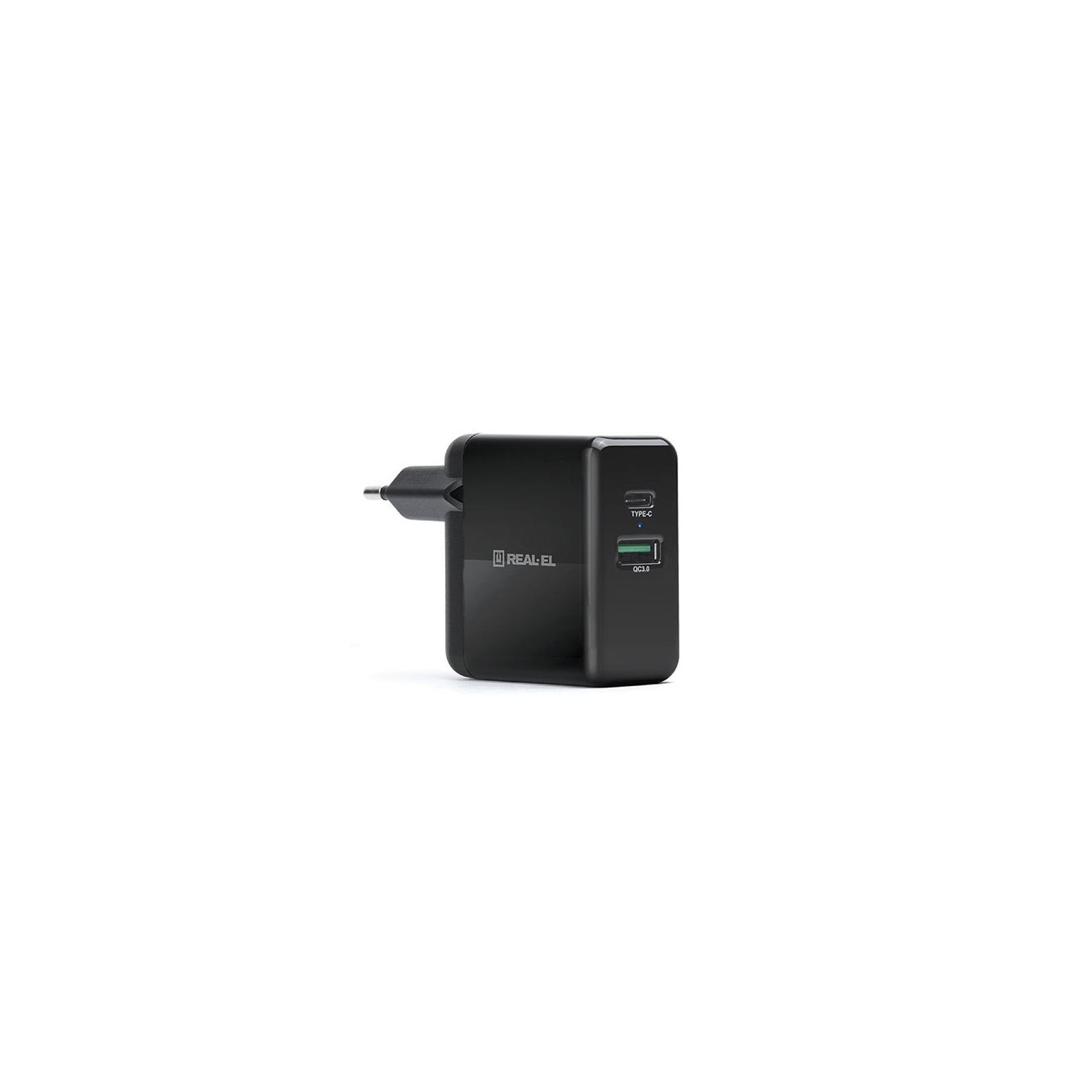 Зарядний пристрій REAL-EL CH-350 black (EL123160017) зображення 6