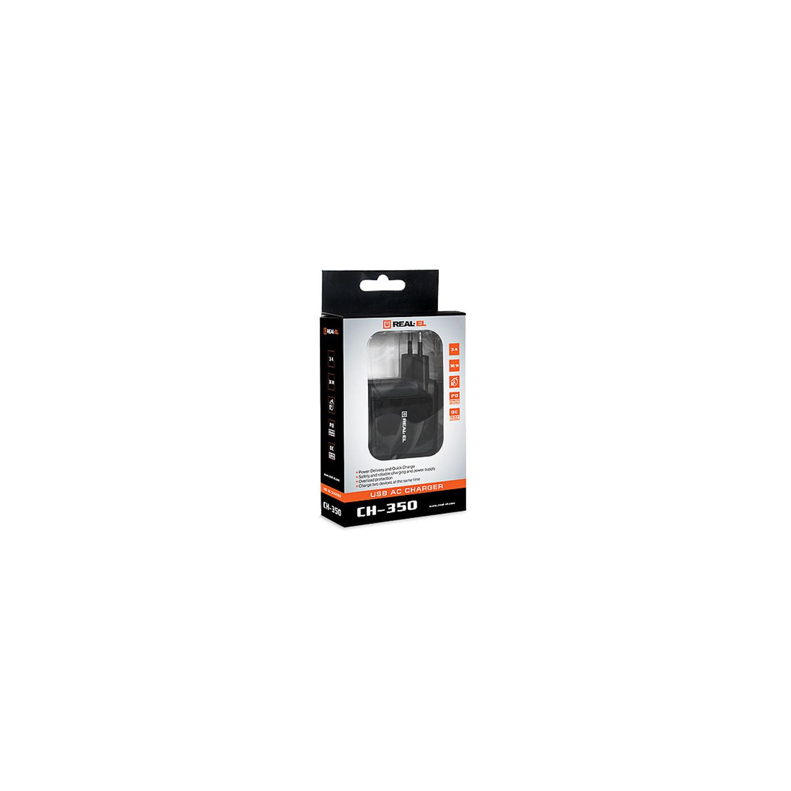 Зарядний пристрій REAL-EL CH-350 black (EL123160017) зображення 8