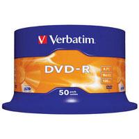 Диск DVD-R Verbatim 4.7Gb 16X CakeBox 50шт (43548)