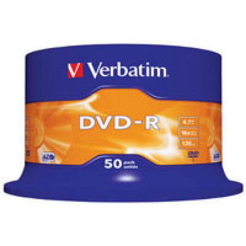 Диск DVD Verbatim 4.7Gb 16X CakeBox 50шт (43548)