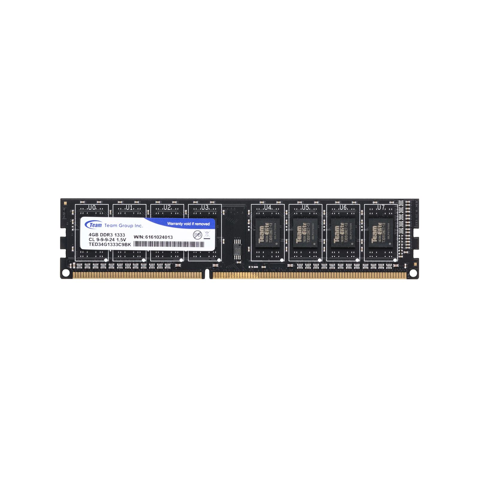 Модуль памяти для компьютера DDR3 4GB 1333 MHz Team (TED34G1333C901 / TED34GM1333C901) изображение 2