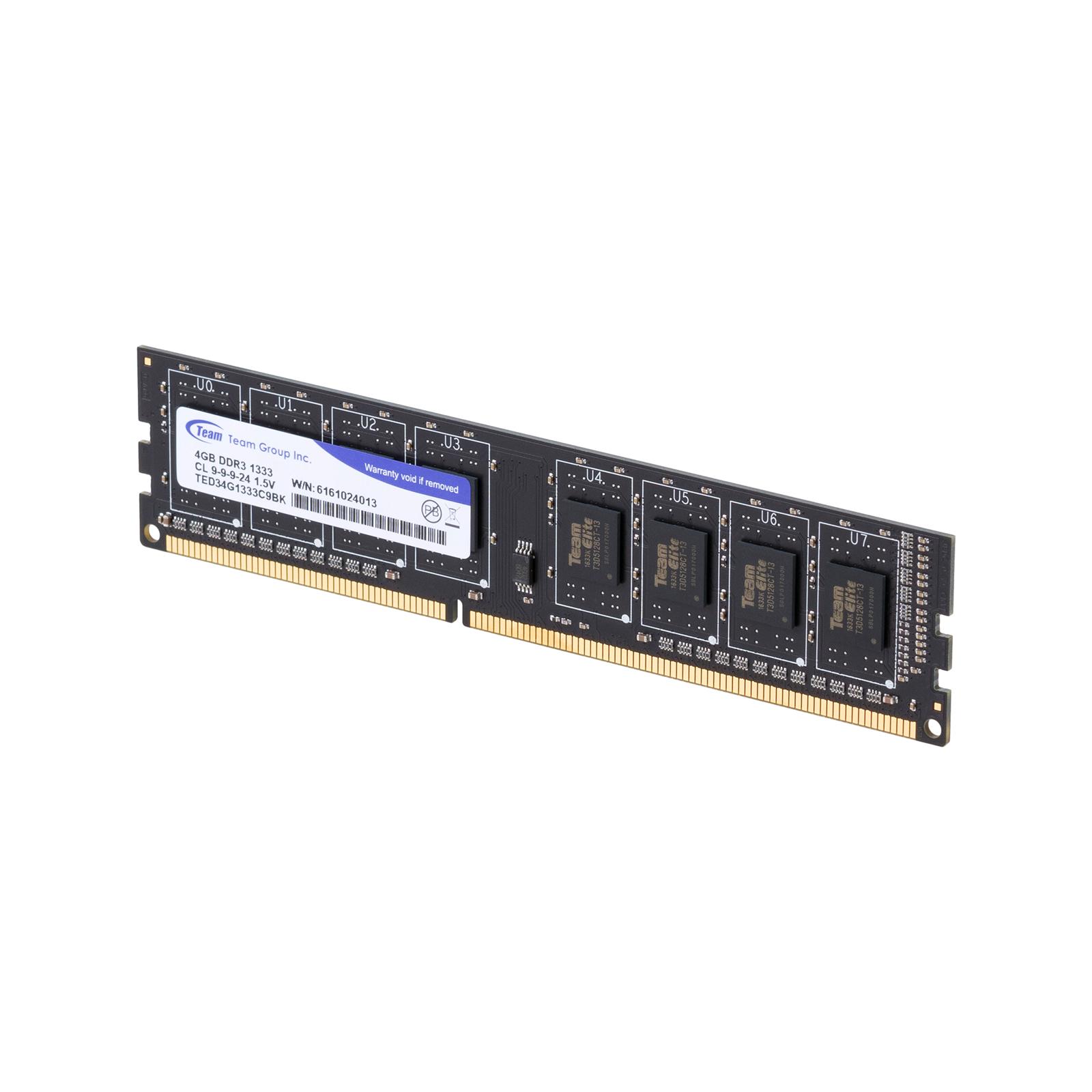Модуль памяти для компьютера DDR3 4GB 1333 MHz Team (TED34G1333C901 / TED34GM1333C901) изображение 3