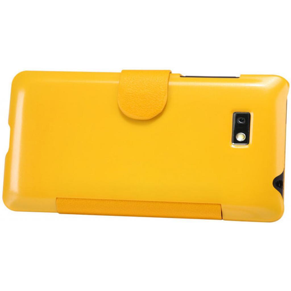 Чехол для моб. телефона NILLKIN для HTC Desire 600-Fresh/ Leather/Yellow (6088700) изображение 4