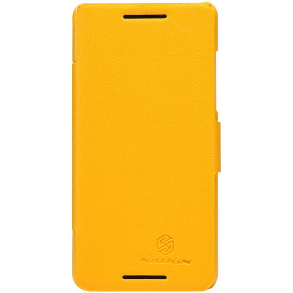 Чехол для моб. телефона NILLKIN для HTC Desire 600-Fresh/ Leather/Yellow (6088700)