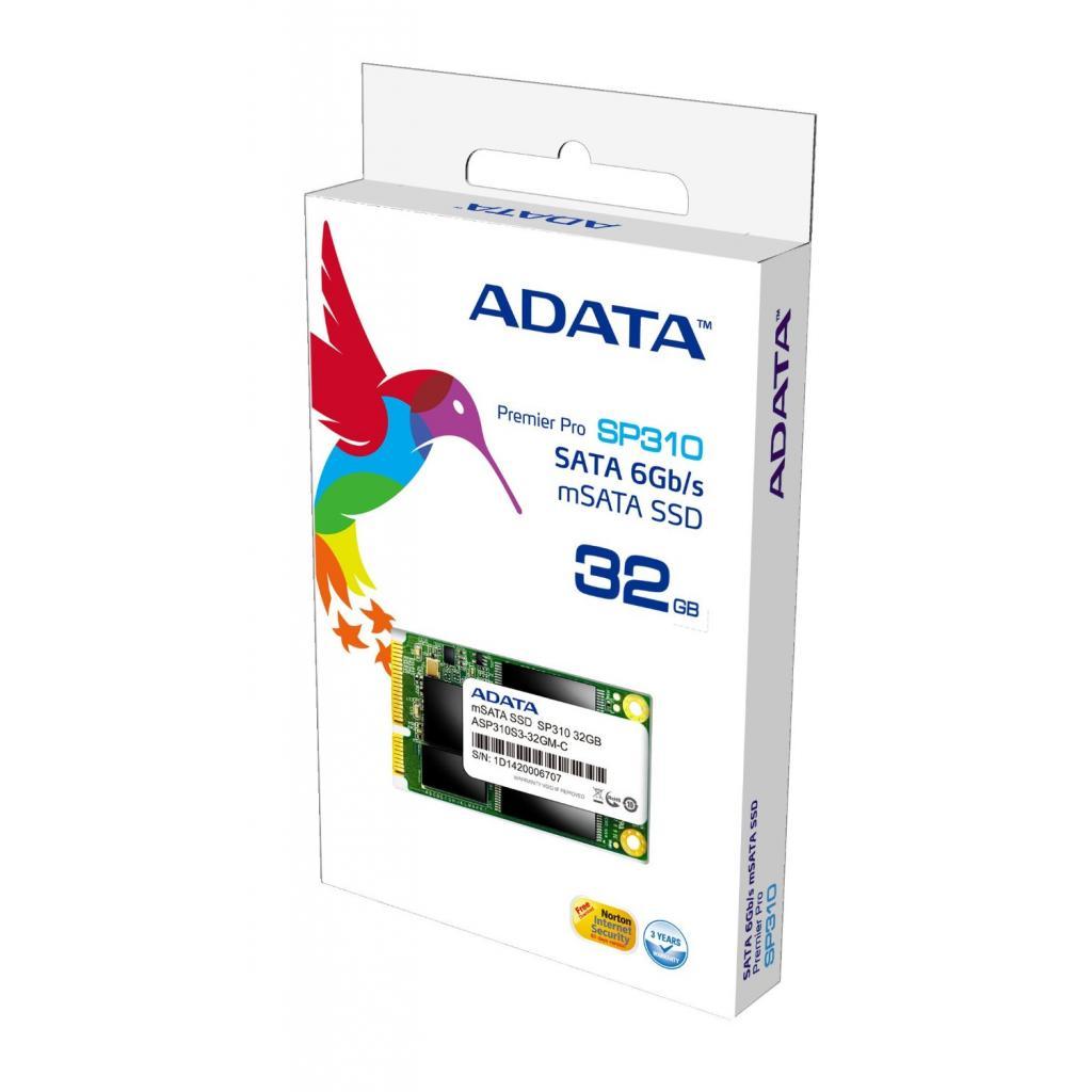 Накопитель SSD mSATA 32GB ADATA (ASP310S-32GM-C) изображение 2