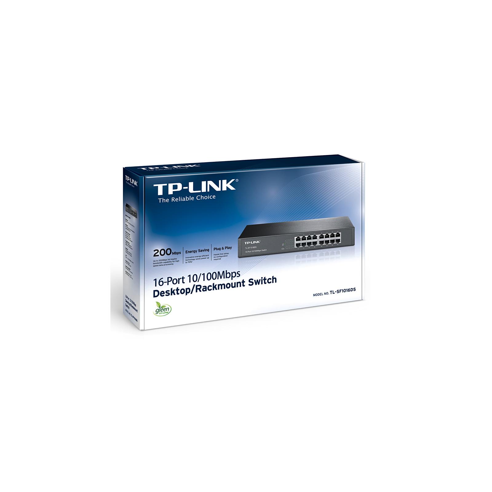 Коммутатор сетевой TP-Link TL-SF1016DS изображение 3