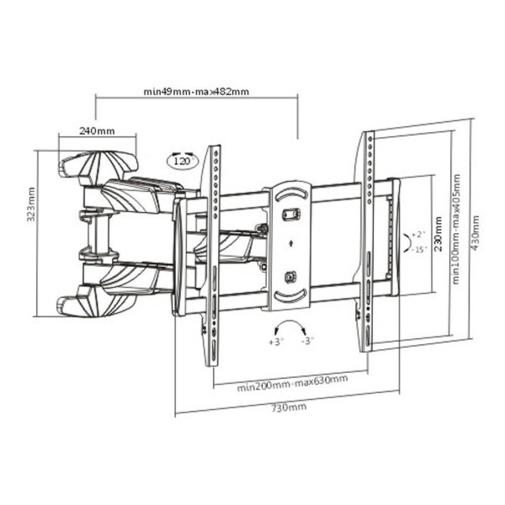 Кронштейн BRATECK LPA50-466 изображение 2