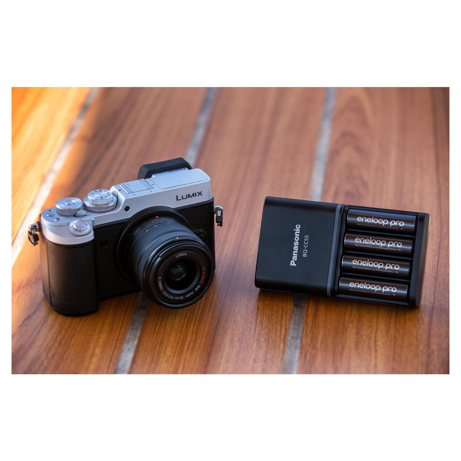 Зарядное устройство для аккумуляторов PANASONIC Smart-Quick Charger+Eneloop Pro +4*AA 2500 mAh NI-MH (K-KJ55HCD40E) изображение 2