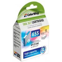 Картридж ColorWay HP №655 Cyan (CZ110AE) DJ 4615/4625/3525/5525 (CW-H655C)