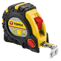 Рулетка Topex стальная лента 5 м x 25 мм, магнит (27C345)