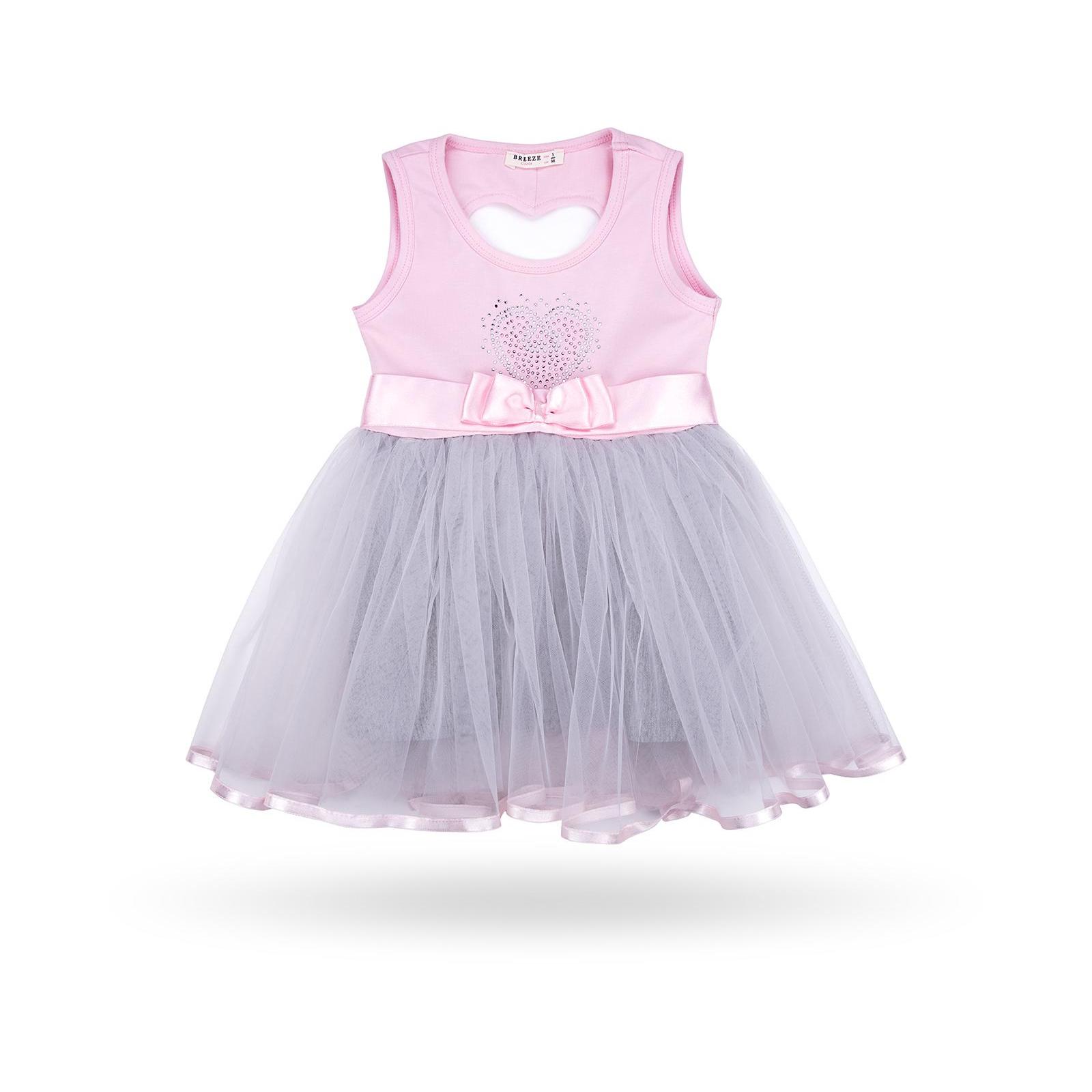 Платье Breeze сарафан с фатиновой юбкой и сердцем (10862-104G-pink)
