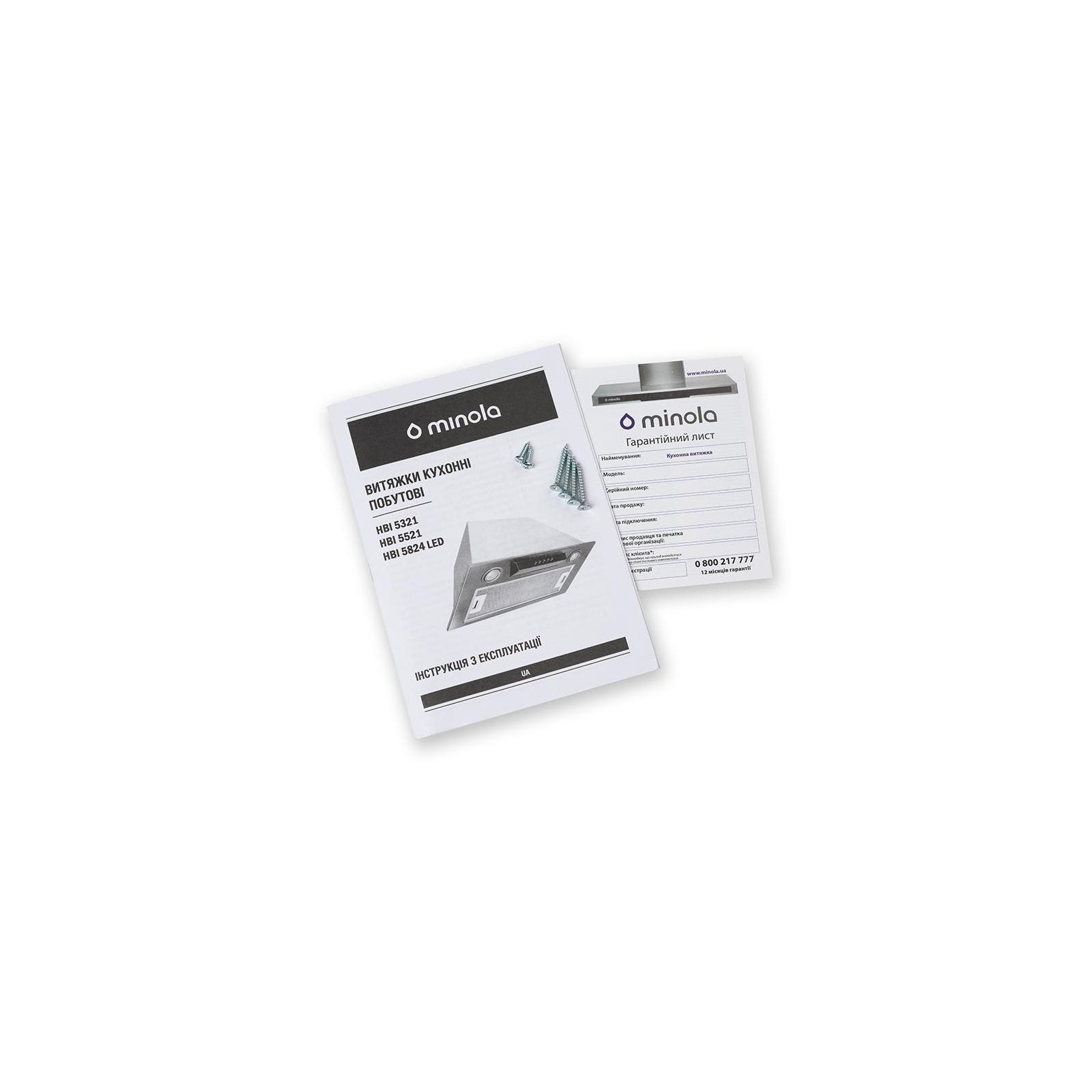 Вытяжка кухонная MINOLA HBI 5321 BL 750 изображение 3