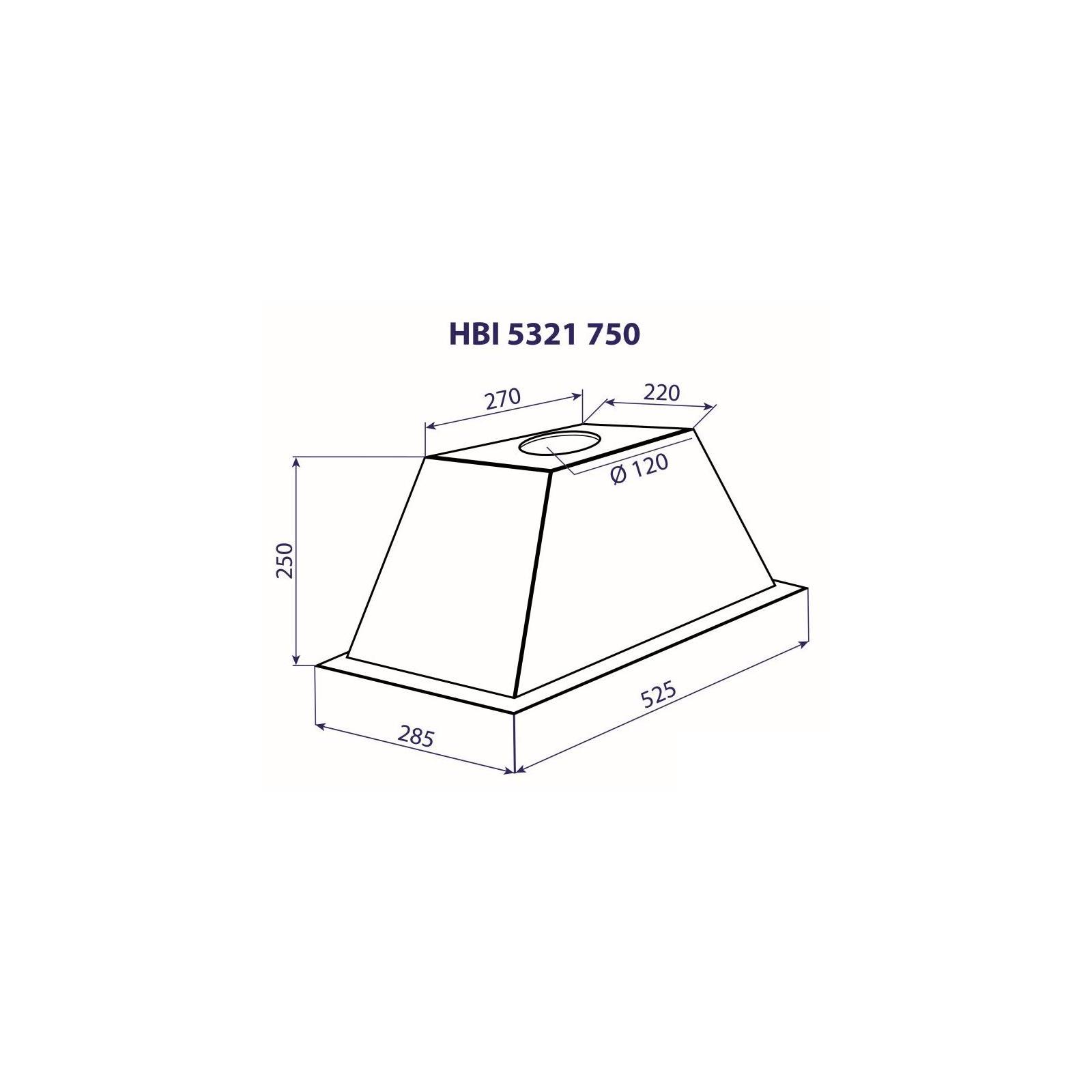Вытяжка кухонная MINOLA HBI 5321 BL 750 изображение 4