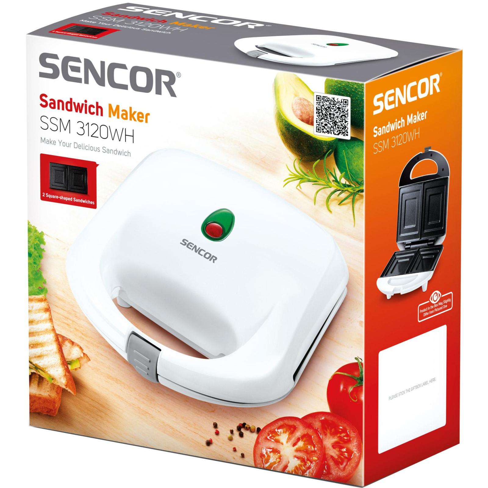 Сэндвичница Sencor SSM3120WH изображение 7