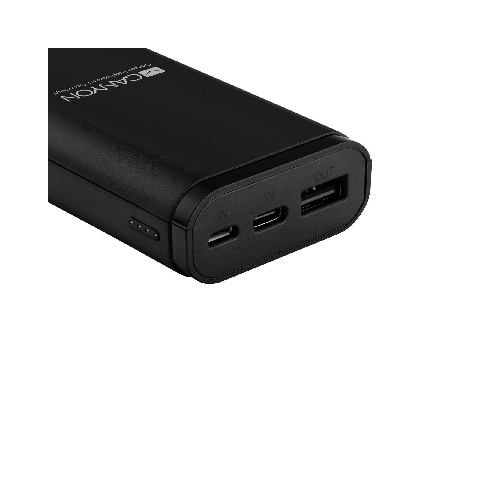 Батарея универсальная Canyon PB-103 10000mAh, Input 5V/2A, Output 5V/2.1A, Black (CNE-CPB010B) изображение 3