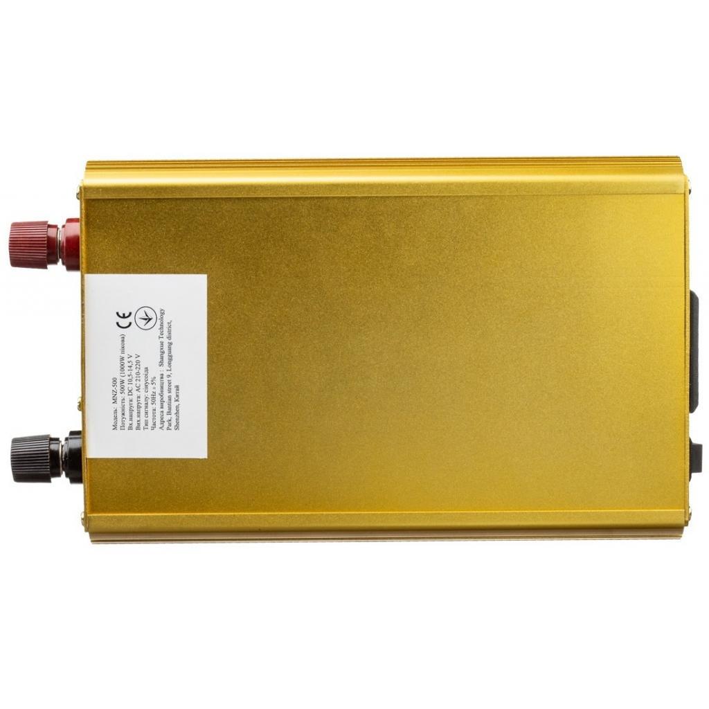 Автомобильный инвертор 12V/220V 500W, чистая синусоида Porto (MNZ-500) изображение 2