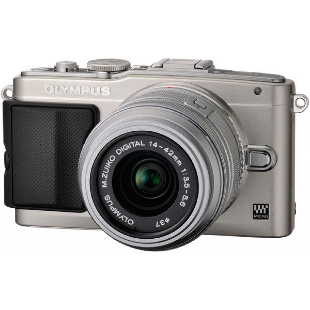 Цифровой фотоаппарат OLYMPUS E-PL5 14-42 mm silver/silver (V205041SE000)