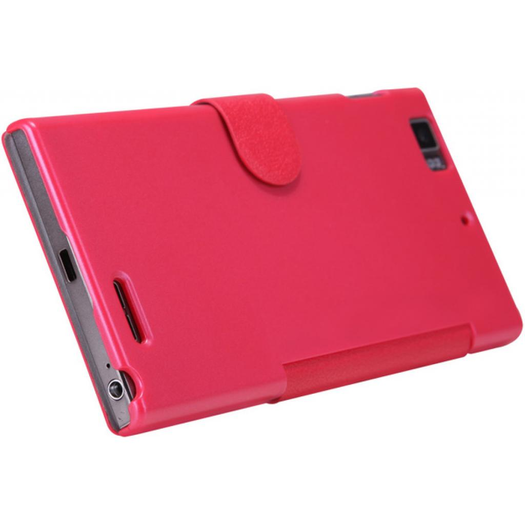 Чехол для моб. телефона NILLKIN для Lenovo K900 /Fresh/ Leather/Red (6076864) изображение 4