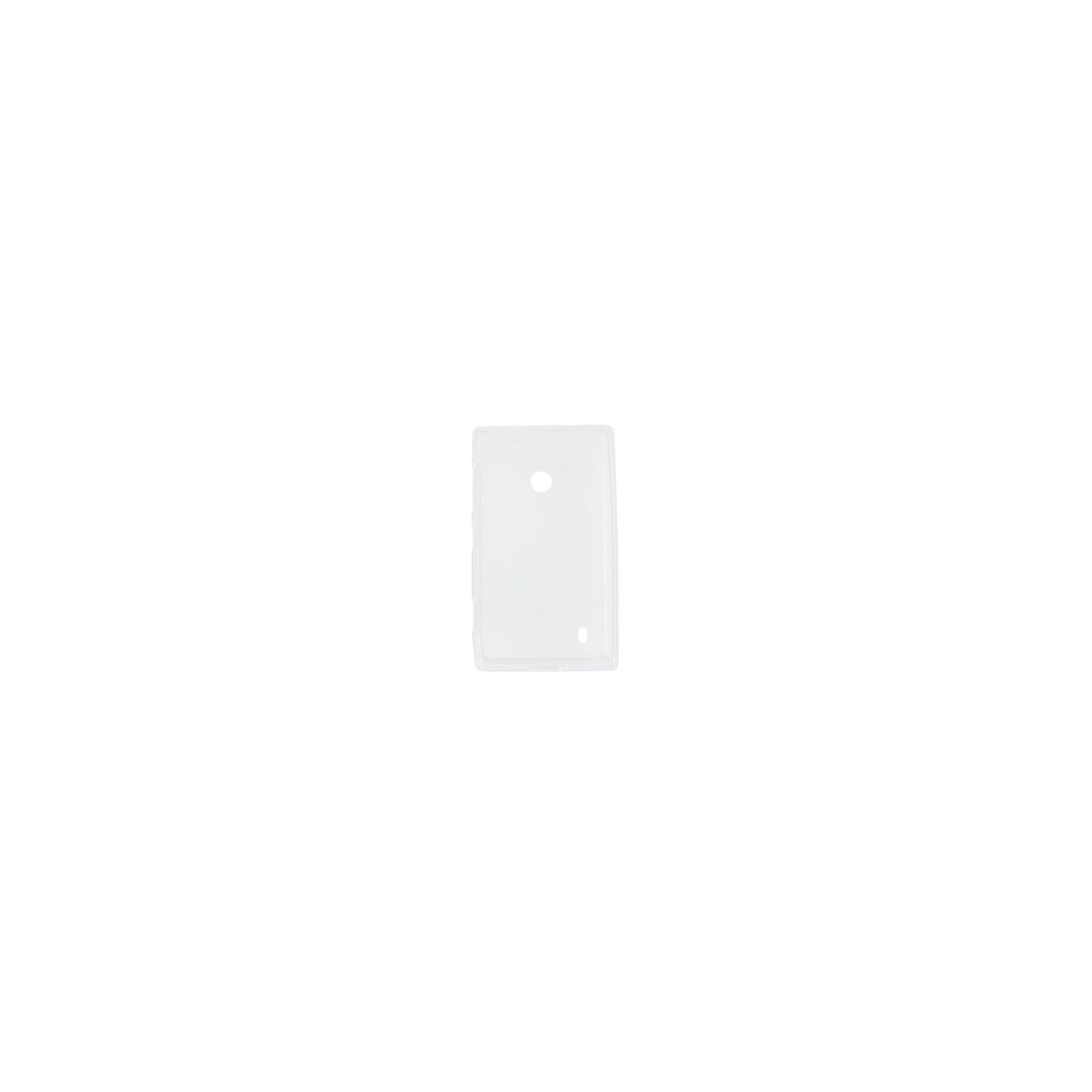 Чехол для моб. телефона для Nokia Lumia 525 (White Clear) Elastic PU Drobak (216397)