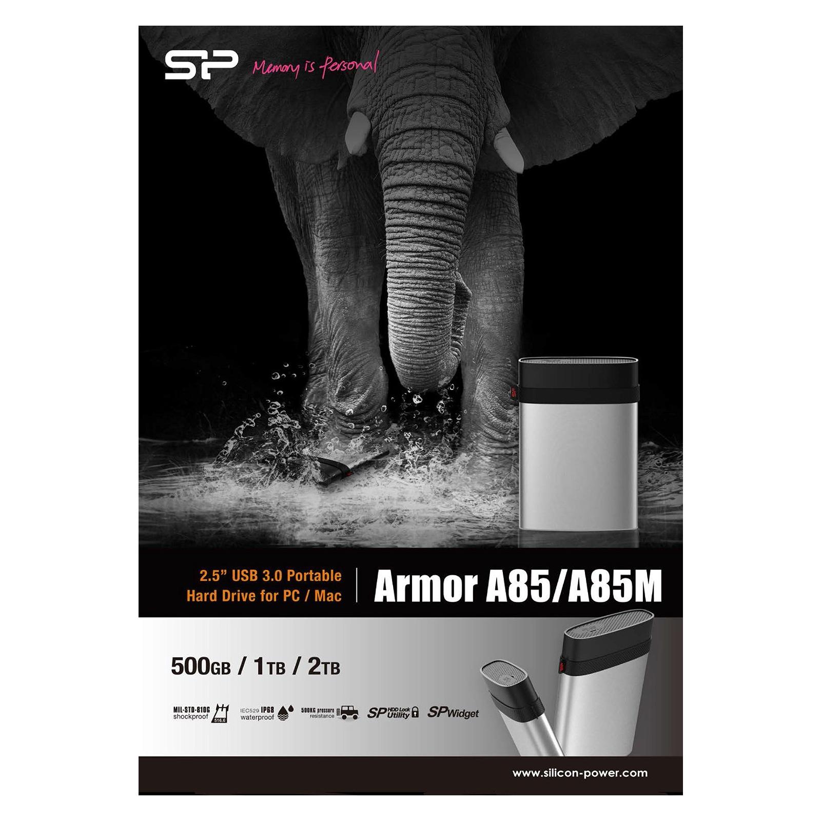 """Внешний жесткий диск 2.5"""" 1TB Silicon Power (SP010TBPHDA85S3S) изображение 5"""