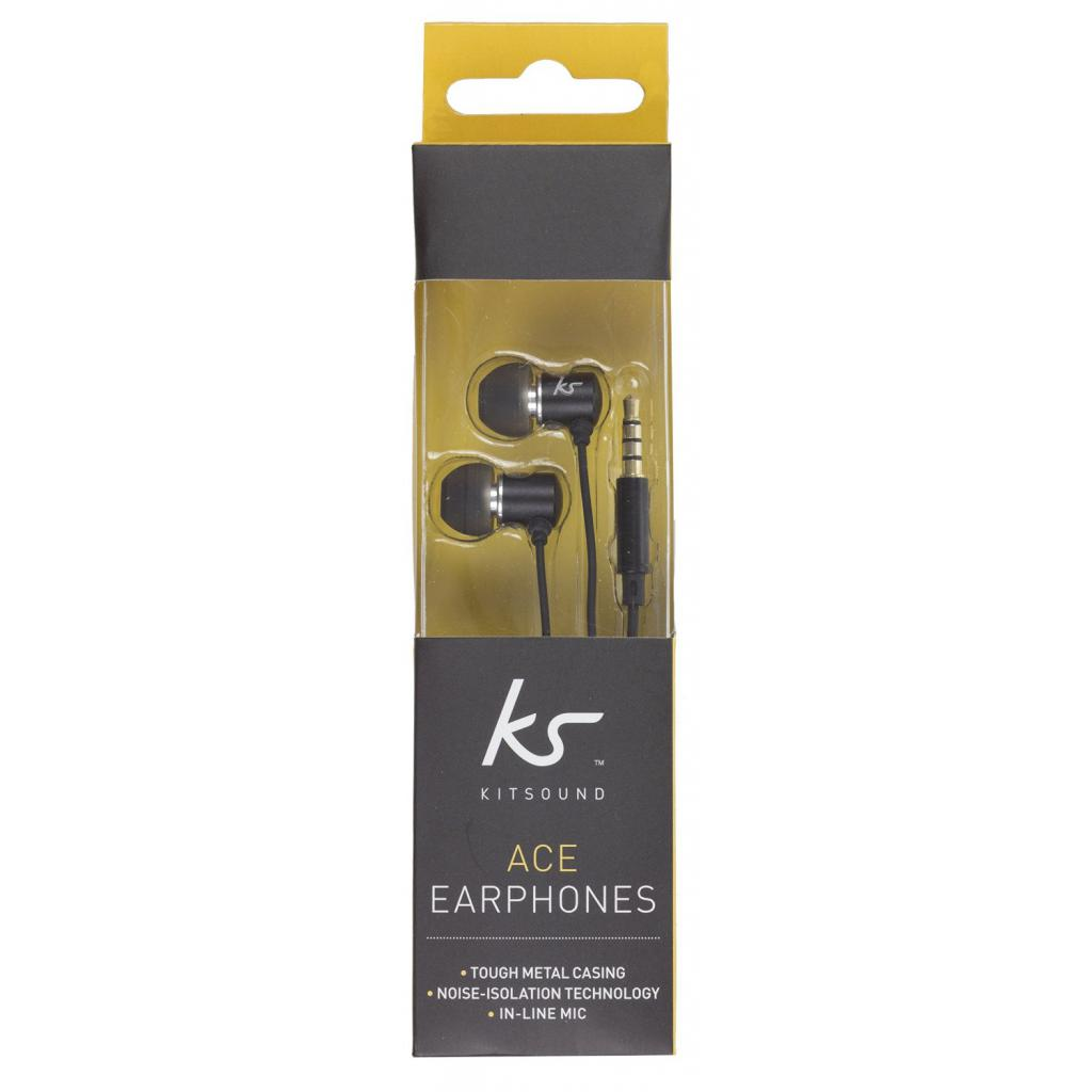 Наушники KitSound KS Ace In-Ear Headphones with mic Black (KSACEMBK) изображение 7