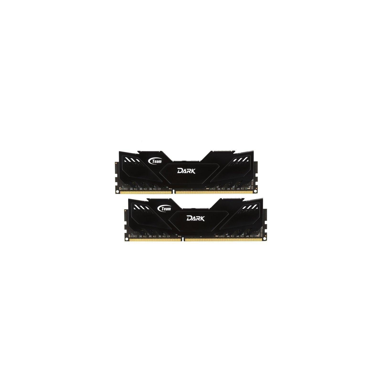 Модуль памяти для компьютера DDR4 8GB (2x4GB) 2666 MHz Dark Black Team (TDKED48G2666HC15ADC01)