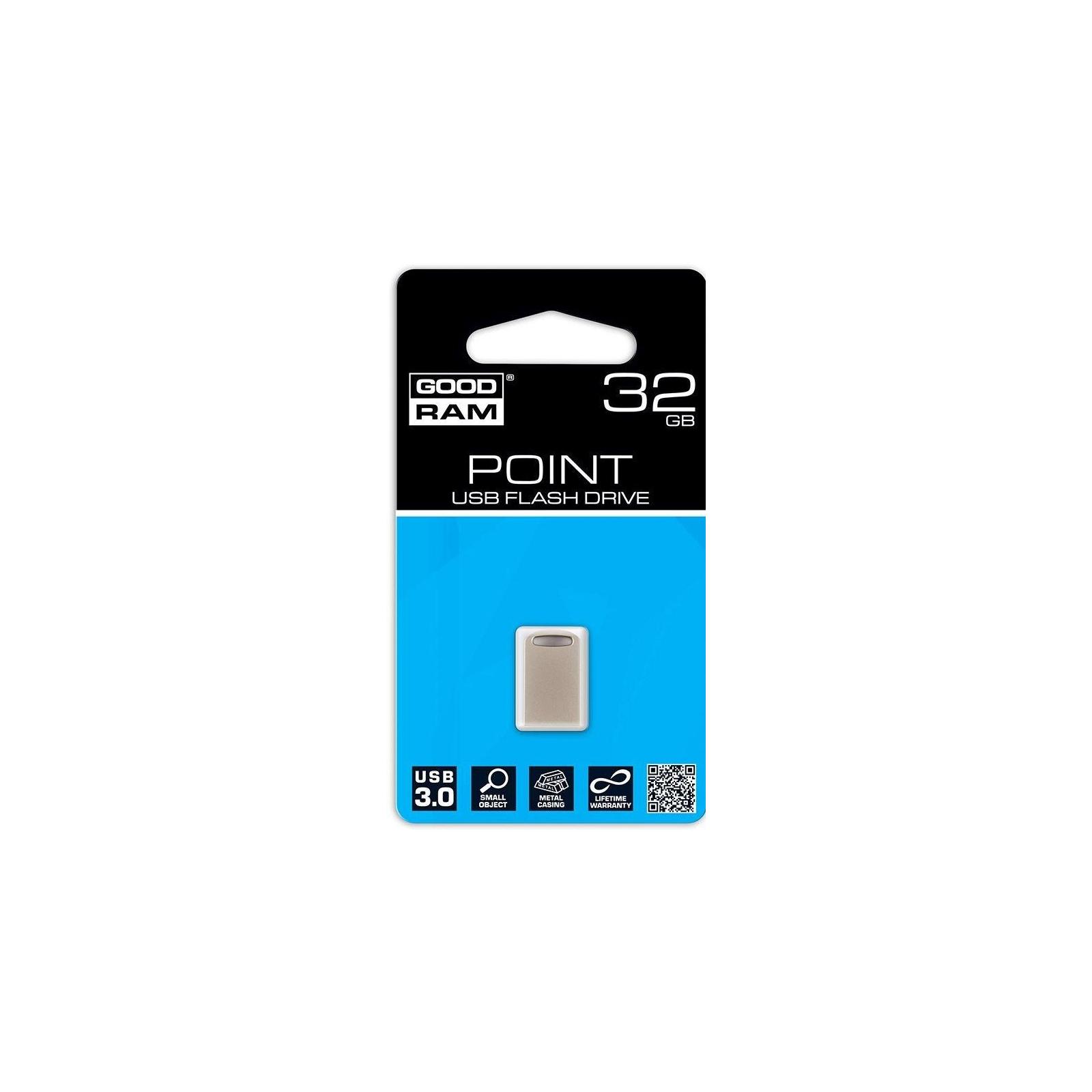 USB флеш накопитель GOODRAM 32GB Point Silver USB 3.0 (UPO3-0320S0R11) изображение 3