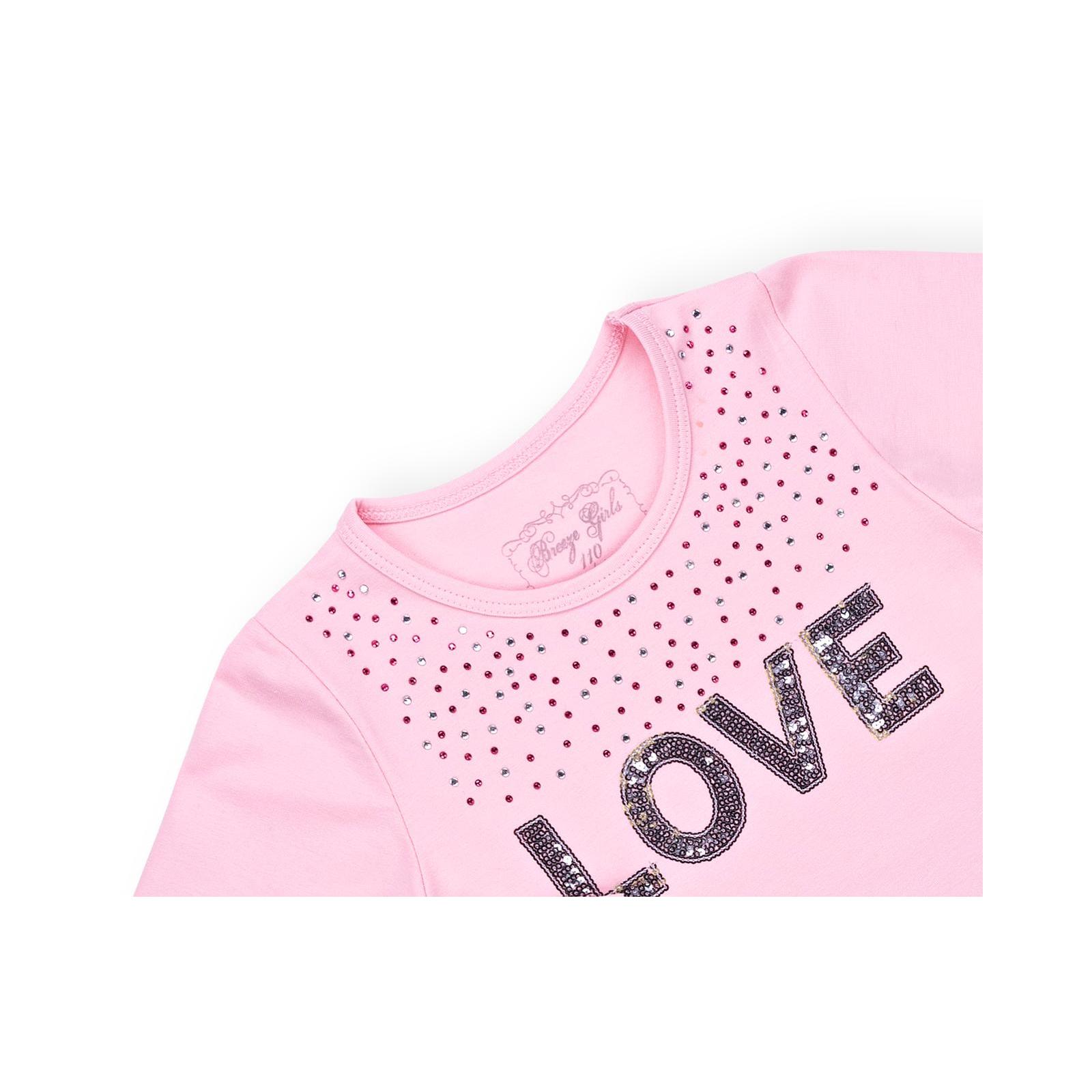"""Платье Breeze """"LOVE"""" (10630-116G-pink) изображение 3"""