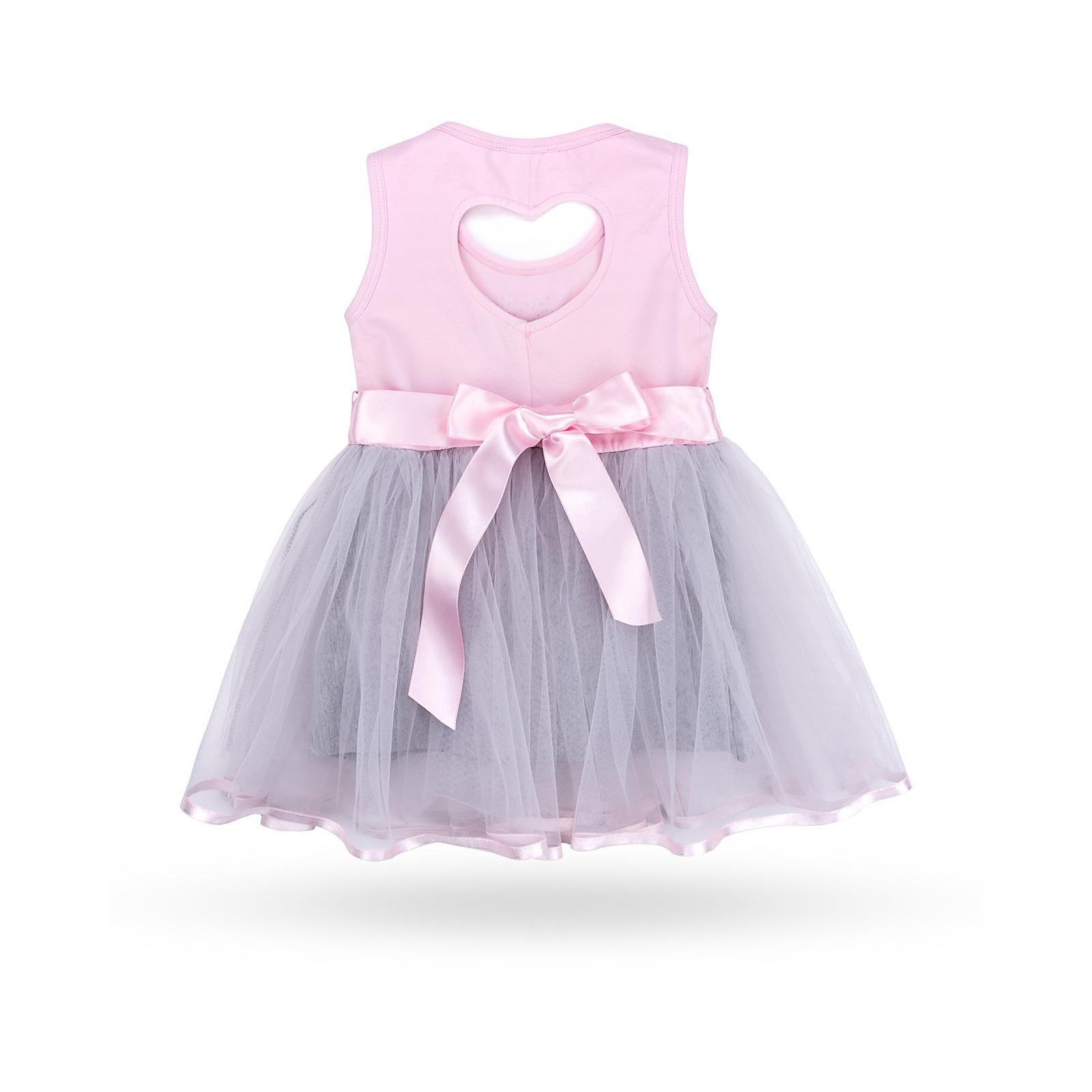 Платье Breeze сарафан с фатиновой юбкой и сердцем (10862-104G-pink) изображение 2