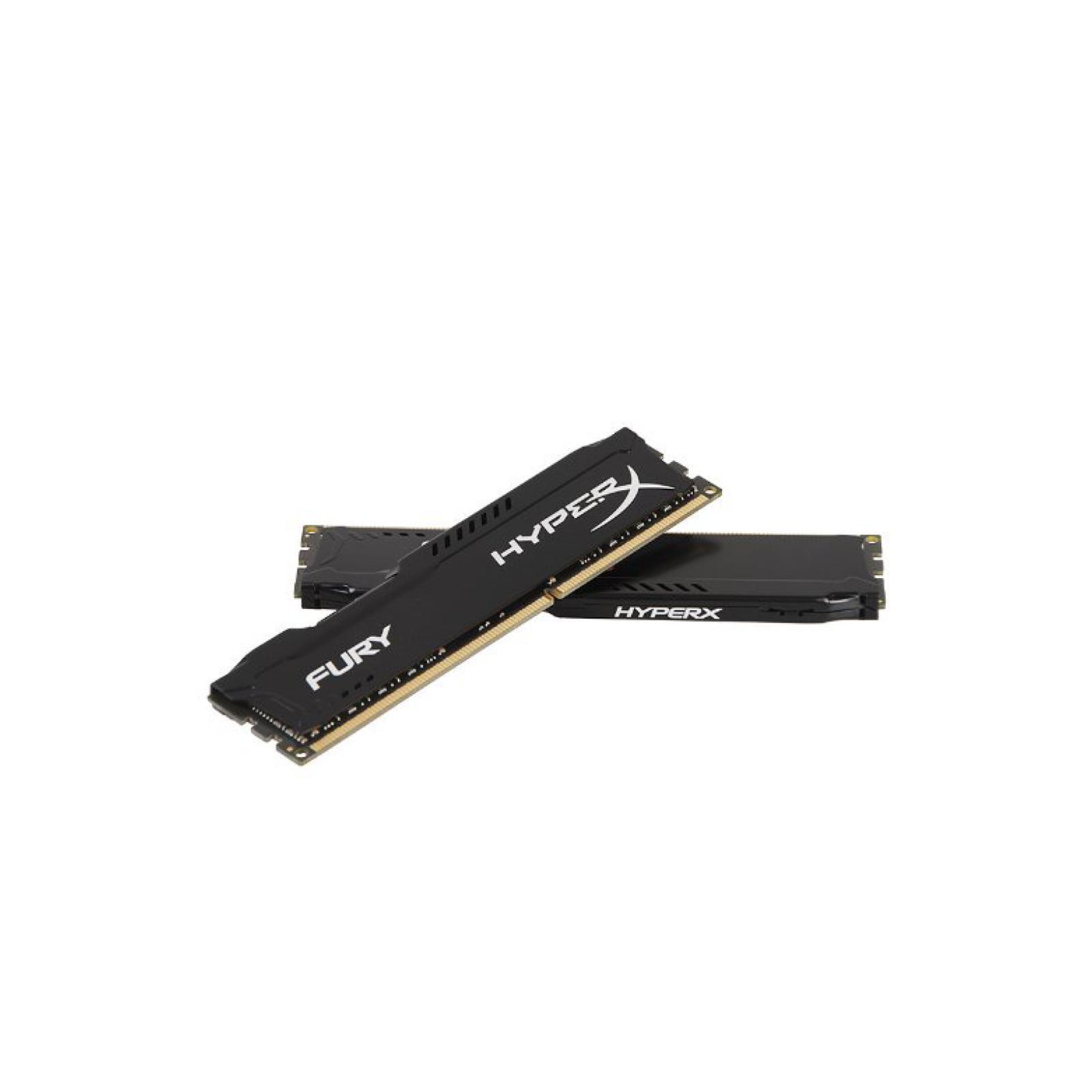 Модуль памяти для компьютера DDR4 32GB (2x16GB) 2933 MHz HyperX FURY Black HyperX (Kingston Fury) (HX429C17FBK2/32) изображение 4