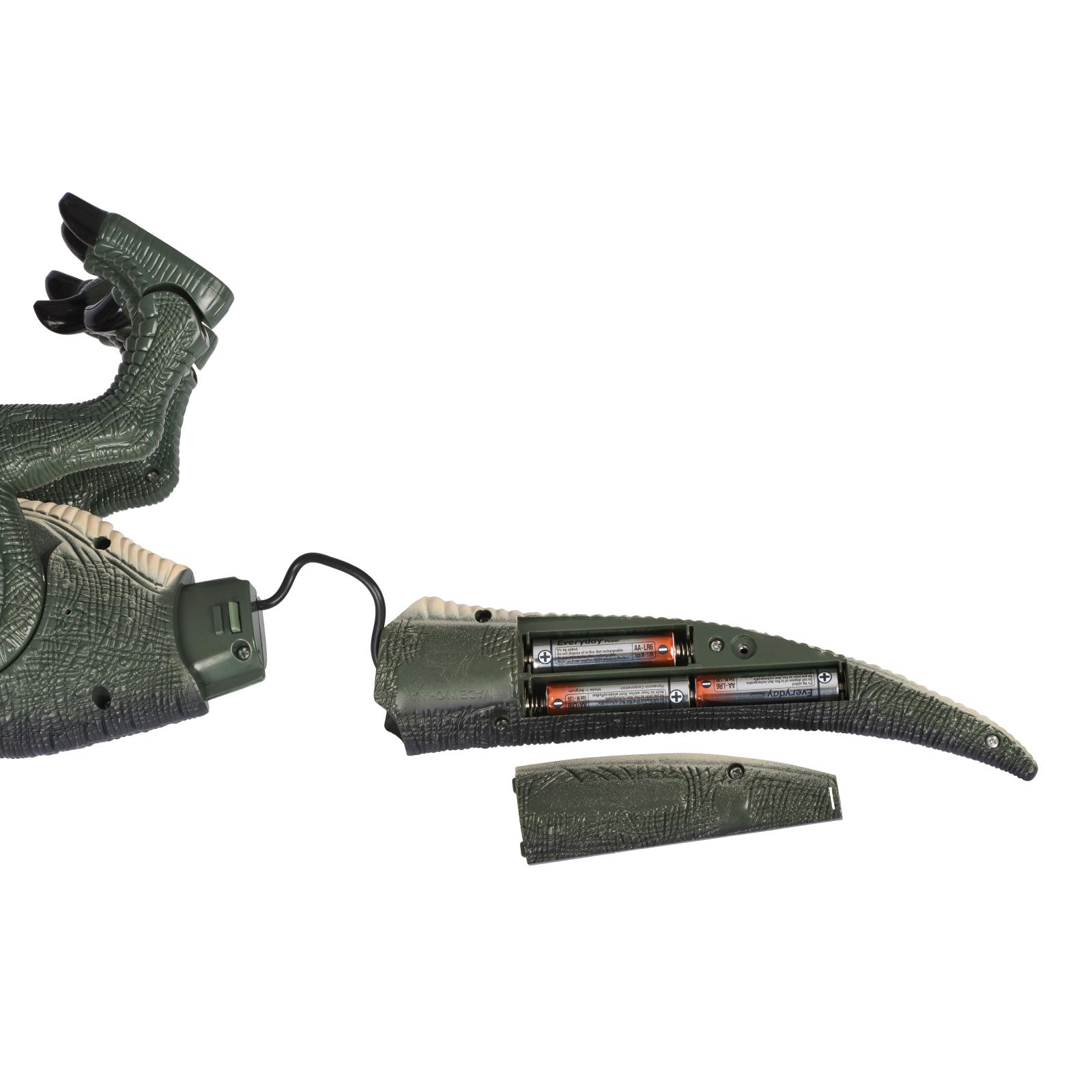 Интерактивная игрушка Same Toy Динозавр Dinosaur World зеленый со светом звуком (RS6124Ut) изображение 10