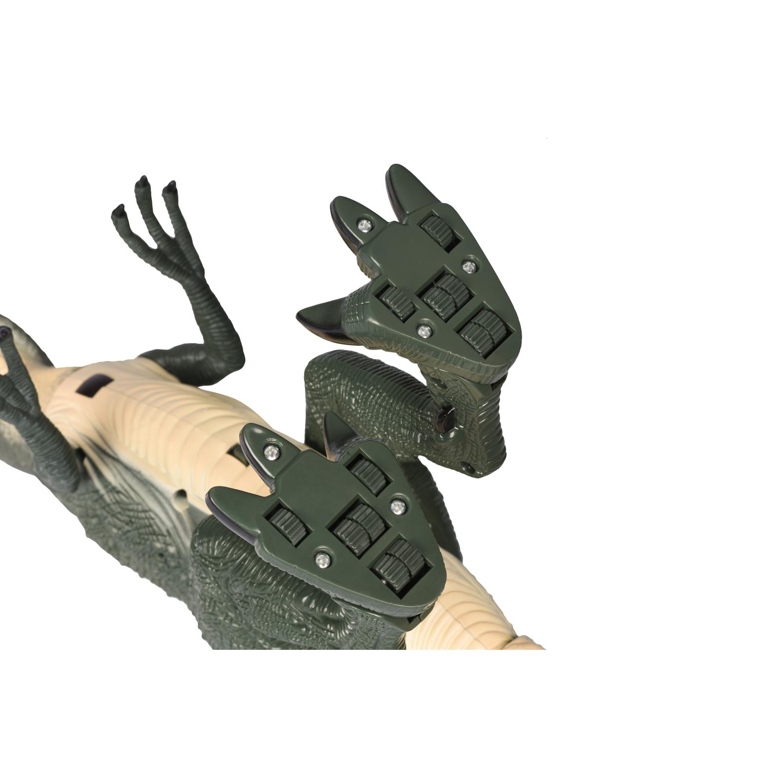 Интерактивная игрушка Same Toy Динозавр Dinosaur World зеленый со светом звуком (RS6124Ut) изображение 7