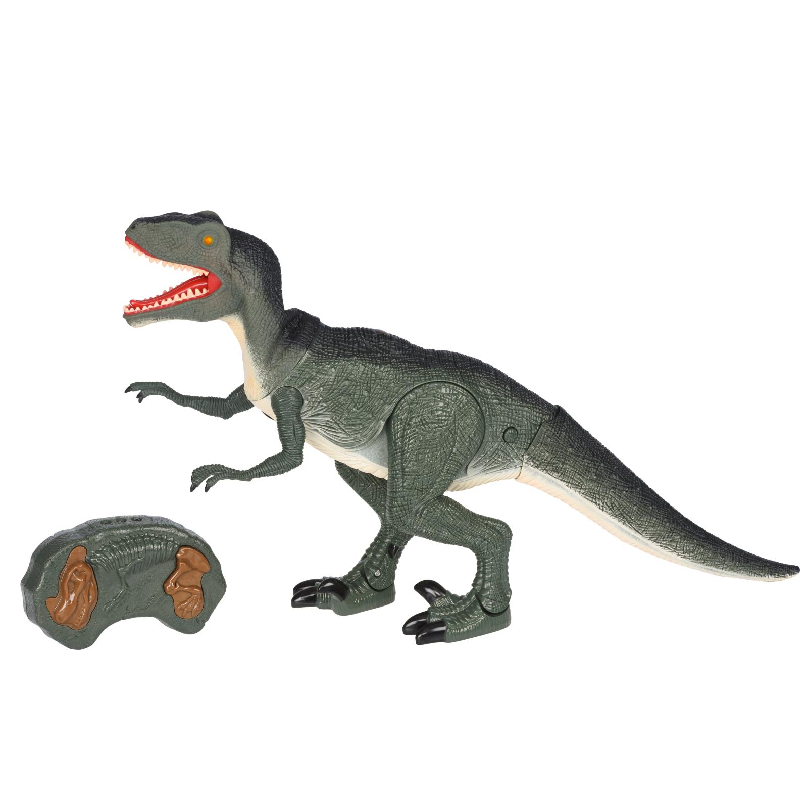 Интерактивная игрушка Same Toy Динозавр Dinosaur World зеленый со светом звуком (RS6124Ut)