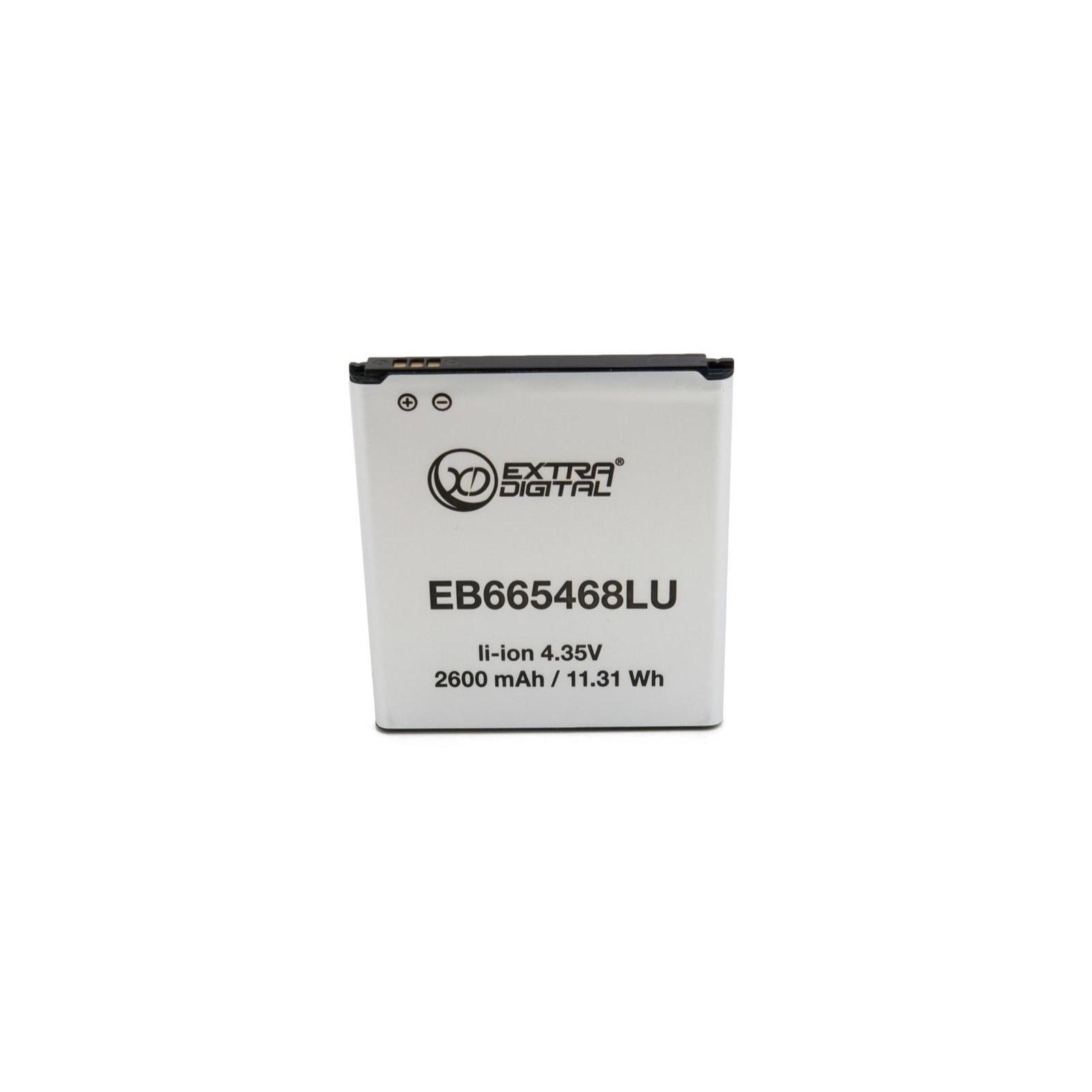 Аккумуляторная батарея EXTRADIGITAL Samsung Galaxy Grand 2 Duos G7102 (2600 mAh, EB665468LU) (BMS6417) изображение 2